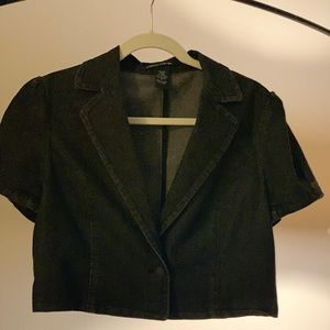 Pierre Cardin black denim top